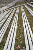 Wooden benches — Stock Photo
