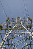 Column of a transmission line — Stock Photo