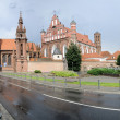 St. Anne's Church and Bernardine Monastery panorama — Stock Photo