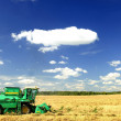 Stock Photo: Harvester combine