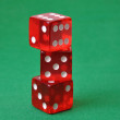 Set of three red dice — Stock Photo #2852188