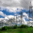 Stock Photo: Electric power lines