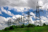 Electric power lines — Stock Photo