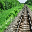Landscape with railway - Stock Photo