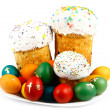 Easter cake and eggs — Stock Photo #2834783