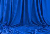 Tissu bleu — Photo