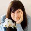Woman with orchid — Stock Photo #2765531