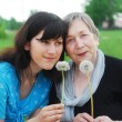 Happy grandmother and grand daughter — Stock Photo #3173692