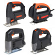 Cordless jig saw set - Stock Photo