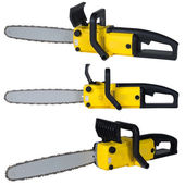 Chainsaw set — Stock Photo
