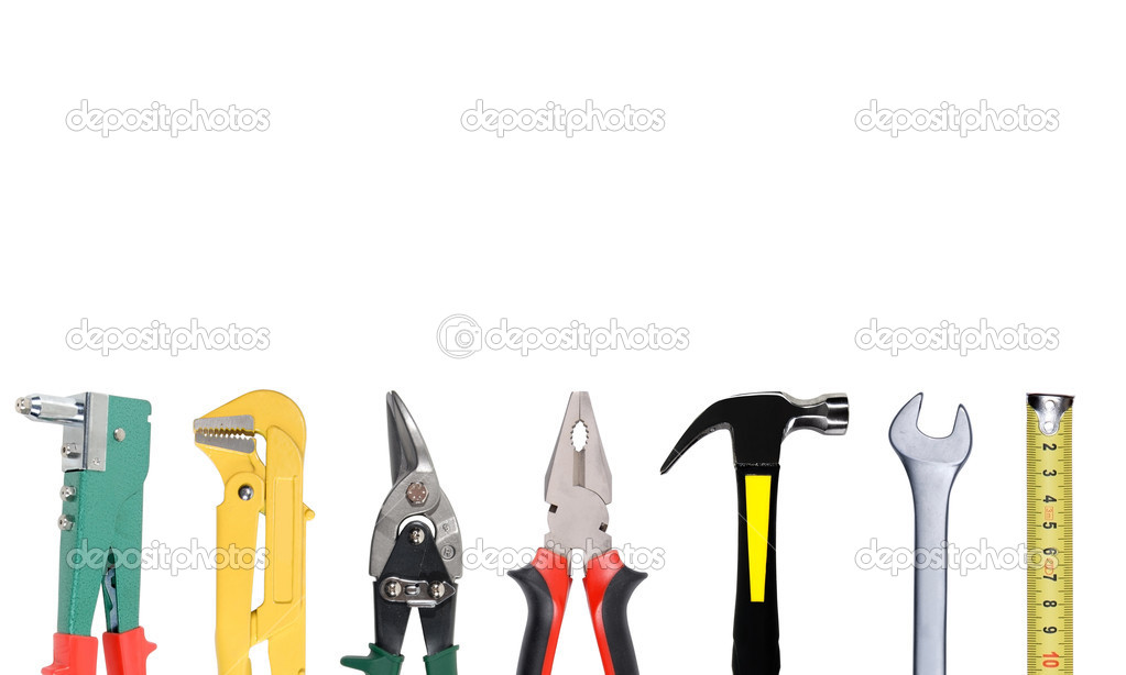 Tools set isolated over white background — Stock Photo #3142861