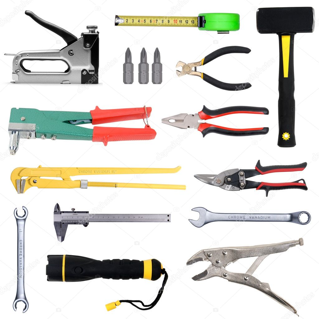 Tools set isoladet over white background — Stock Photo #3271318