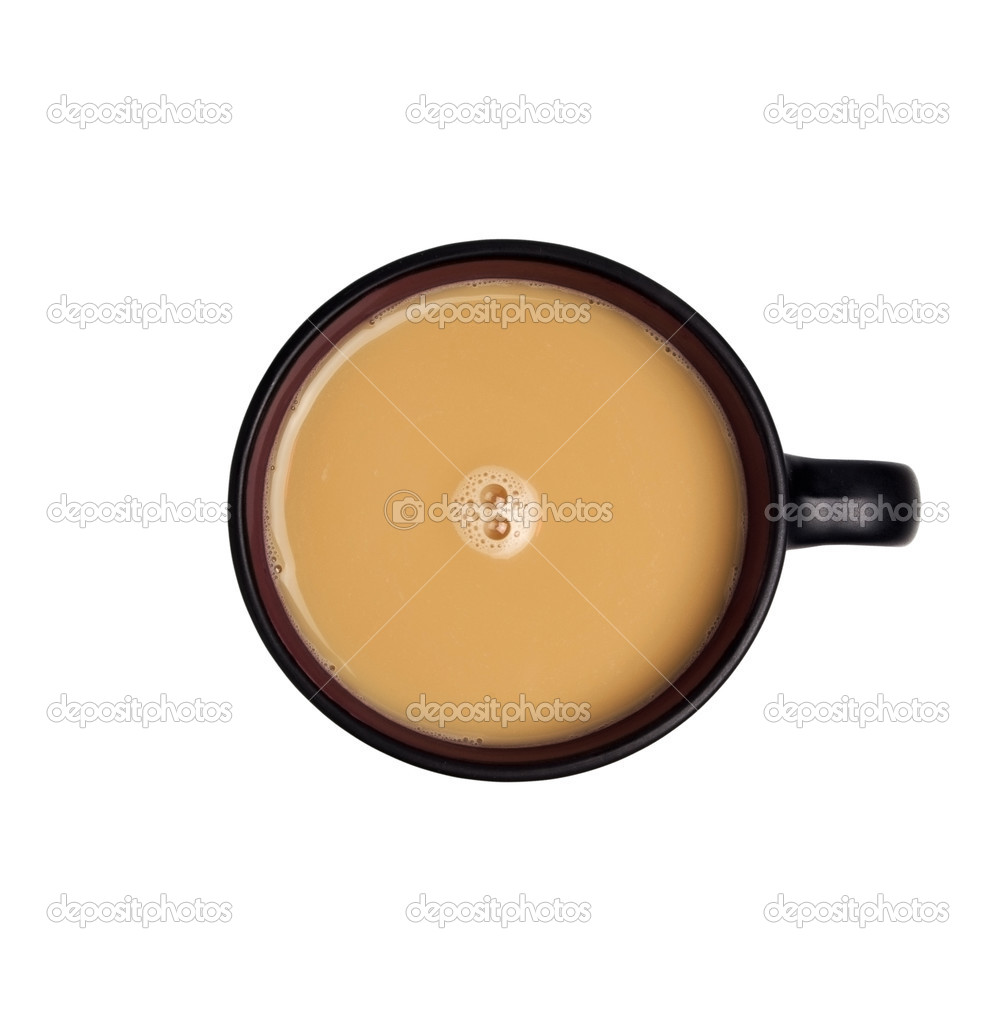 Coffee cappuccino isolated over white background — Stock Photo #3499487