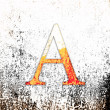 Royalty-Free Stock Photo: Letter A on a grunge background