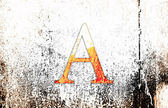 Letter A on a grunge background — Stock Photo