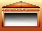 Editable website template — Stock Photo