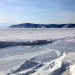 Frozen Lake Baikal — 图库照片