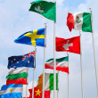 Group of flags — Stock Photo