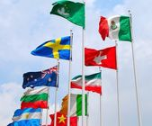 Group of flags — Foto de Stock