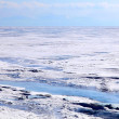 Ice dessert. Frozen Lake Baikal. — Stock Photo
