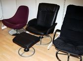 Three office chairs — Stock Photo