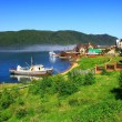 Stock Photo: Listvianksettlement, Lake Baikal, Russia.