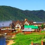 Listvianka settlement, Lake Baikal, Russia. — Stock Photo