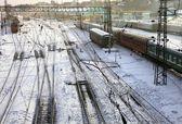 Järnvägsstation — Stockfoto