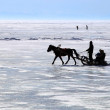 Lake Baikal. Winter. - Stock Photo