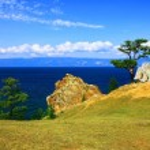 Lake Baikal. Olkhon island. Cape Burkhan. — Stock Photo #3721366