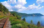 кругобайкальской железной дороги — Стоковое фото