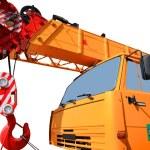 Truck crane — Stock Photo #3760885