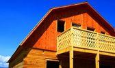 Log cabin under construction — Stock Photo