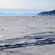 Frozen Lake Baikal. Twilight. — Foto Stock