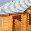 Part of the log cabin — Stock Photo