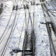Close up of the railroad tracks — Stock Photo