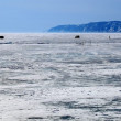 Frozen Lake Baikal. Winter. — Stock Photo