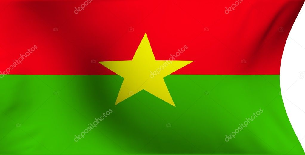 Flag of Burkina Faso against white background. Close up.  — Stock Photo #4180366
