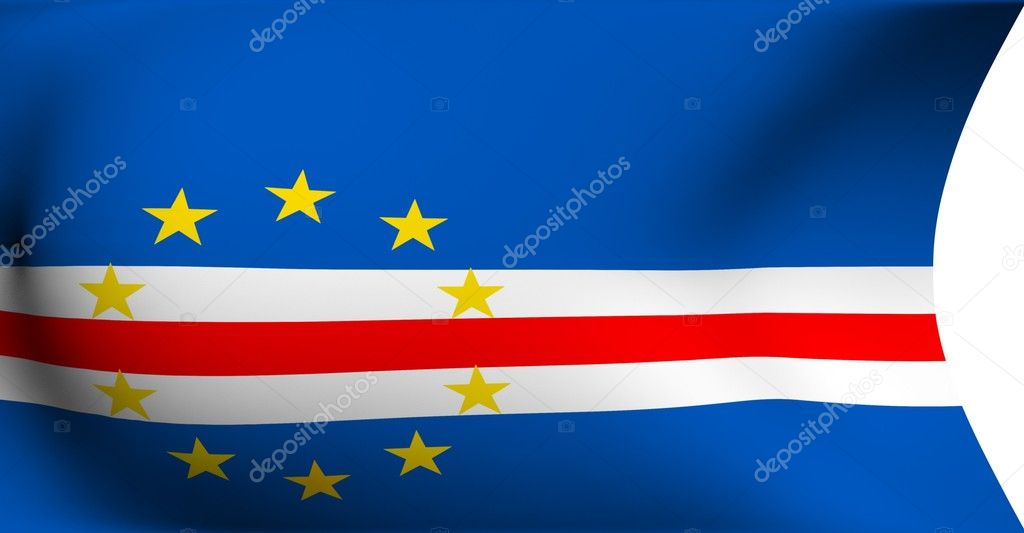 Flag of Cap-Vert against white background. Close up.  — Stock Photo #4180391
