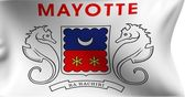 Flag of Departmental Collectivity of Mayotte — Stock Photo