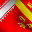 Flag of Alsace, France — Stock Photo