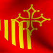 Flag of Languedoc-Rousillon, France — Stock Photo