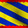 Flag of Nivernais, France — Stock Photo