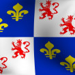 Flag of Picardie, France — Stock Photo