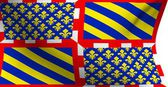 Flag of Bourgogne, France — Stock Photo