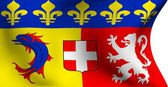 Flag of Rhone-Alpes, France — Stock Photo