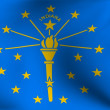 Stock Photo: Flag of Indiana, USA