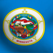 Stock Photo: Flag of Minnesota, USA