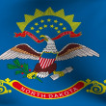Flag of North Dakota, USA — Stock Photo #4254048