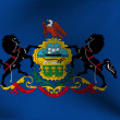 Flag of Pennsylvania, USA - Stock Photo